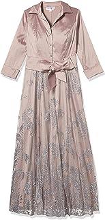 Emma Street womens long sleeeve glitter shirt dress Mother of the Bride Dress