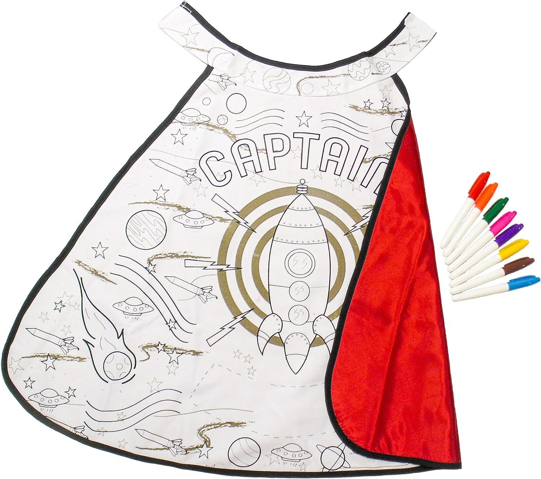 Generique - Raketen-Umhang mit Textilfarben für Kinder Einheitsgröße B00LZXWJ64 Spielen Sie auf der ganzen Welt und verhindern Sie, dass Ihre Kinder einsam sind       Angenehmes Aussehen