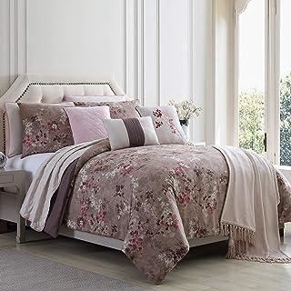 Amrapur Overseas Grammercy 10-Piece Comforter and Coverlet Set, Queen, Brown
