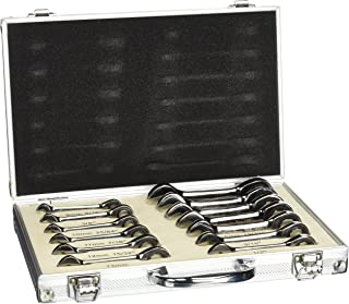 Tooluxe 03631L Duometric Stubby Ratcheting Combo Wrench Set, 13 Piece | Cr-V with Black Nickel Finish SAE & Metric