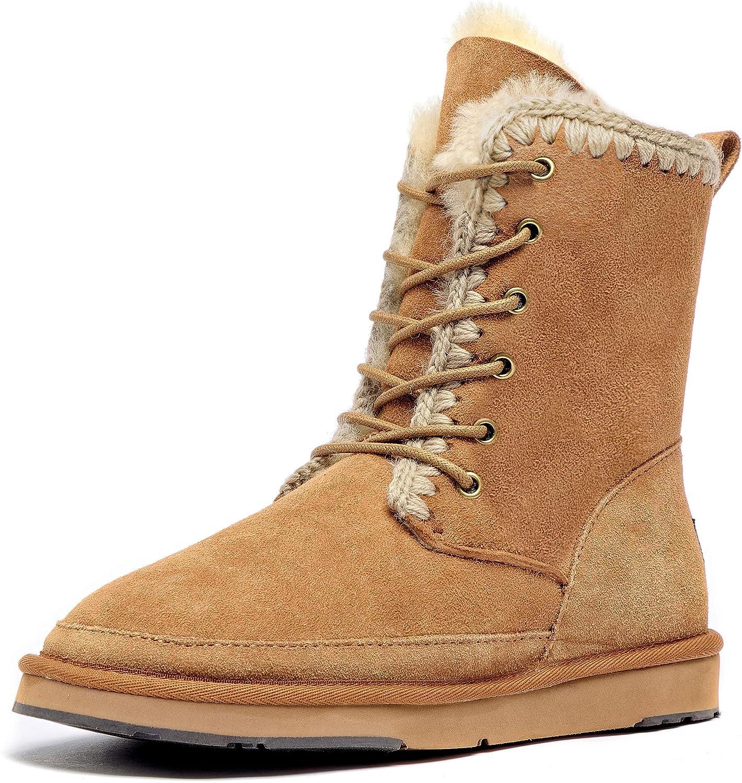 Aumu Women's National Style Matin Classic Style Sheepskin Suede Winter Snow Boots