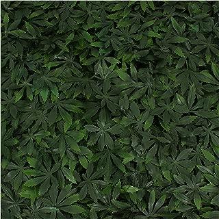 Milltown Merchants Artificial Marijuana Pot Leaf Hedge - Fake Weed Plant - Smoke Shop Decor - Sound Diffuser Marijuana Wall Art - Topiary Cannabis Greenery Panels (4, Cannabis)