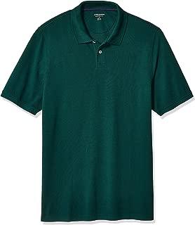 Amazon Essentials Men's Regular-fit Cotton Pique Polo Shirt, Evergreen Medium