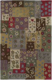 Kaleen Rugs Rugs Khazana Collection Patchwork-53 Ivory Hand Tufted 3'X5' Rug, 3'X5'