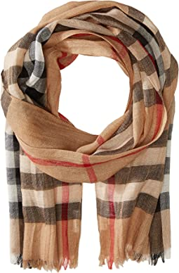 Burberry Kids Gauze Check Scarf (Little Kids/Big Kids)