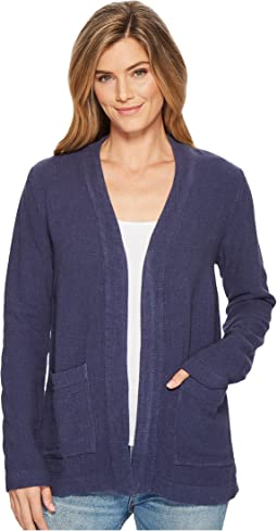 Weekender Rayon Linen Patch Pocket Cardigan