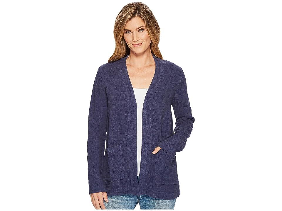 Mod-o-doc Weekender Rayon Linen Patch Pocket Cardigan (New Navy) Women's Sweater