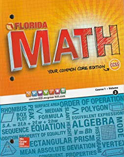 Florida Math Your Common Core Edition Course 1 Volume 2 CCSS