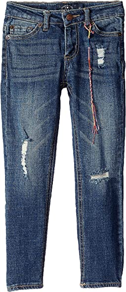 Giselle Rip and Repair Jeans in Sienna Wash (Little Kids)