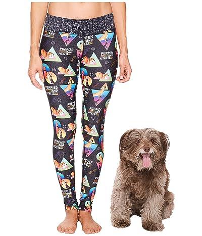 Puppies Make Me Happy Puppies Fitness Leggings (Multi) Women