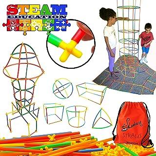 Skoolzy Straws Connectors Building Kits - 200 pc