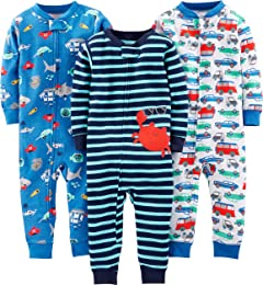 Baby and Toddler Lot de 3 pyjamas sans pieds en co