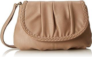 WILD THINGS ONLY !!! Kleine Damentasche Umhängetasche Citytasche Bag Schultertasche Handtasche Clutch 23 x 14 cm Natur