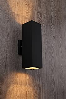 Cerdeco 37858TZ Brandon 2-Light Outdoor Wall Lamp, Matte Black [UL Listed]