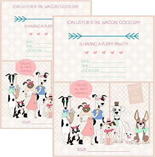 Silly Goose Gifts Calling All Party Animals Puppy Adoption Party Supply (Invitation)