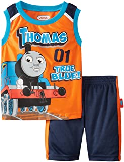 Thomas Little Boys' 2 Piece Mesh Short Set Mandarin Orange 2T