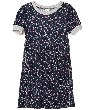 Splendid Littles Floral Print Dress (Big Kids) (Phantom Ink) Girl