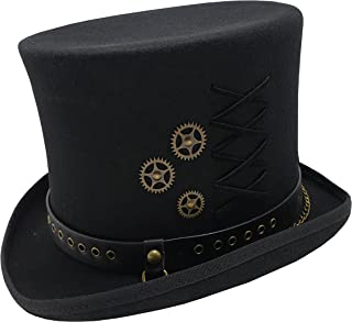 a92a2941155c77 Different Touch 100% Wool Felt Victorian Mad Hatter Steampunk 6