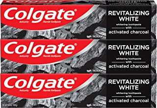 Best Colgate Activated Charcoal Teeth Whitening Toothpaste with Fluoride, Natural Mint Flavor, Vegan - 4.6 ounce (3 Pack, Packaging May Vary) Review