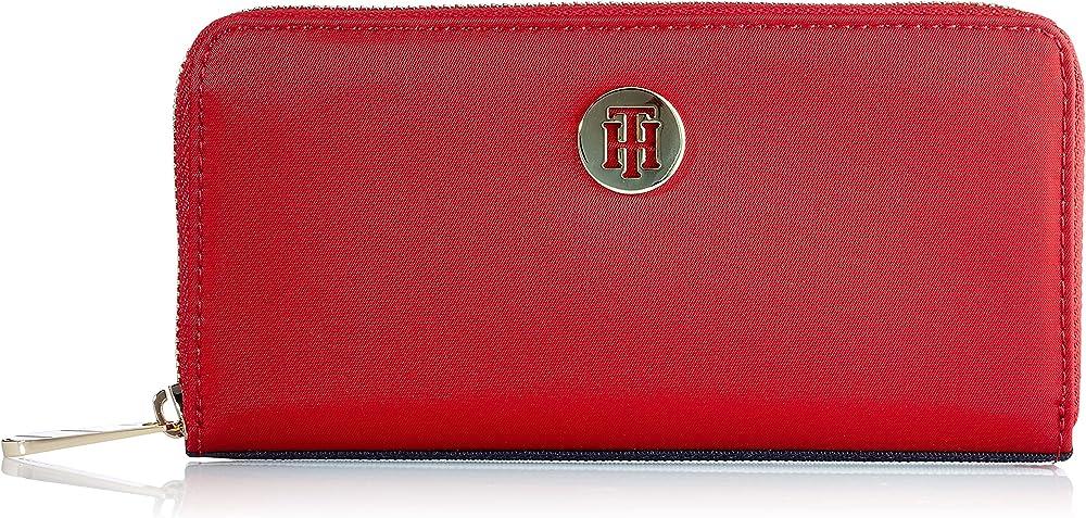Tommy hilfiger poppy portafoglio porta carte di credito da donna 100% poliammide AW0AW08897