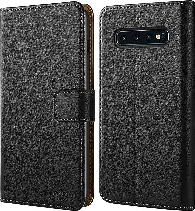HOOMIL Handyhülle für Samsung Galaxy S10 Hülle, Premium Leder Flip Schutzhülle für Samsung Galaxy S10 Tasche, Schwarz
