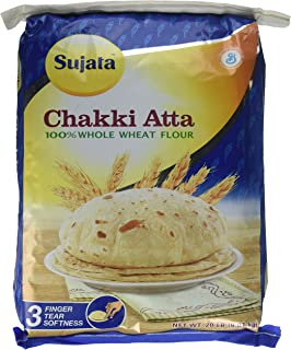Sujata Chakki Atta, Whole Wheat Flour, 20-Pound Bag