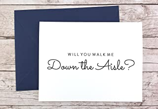 Will You Walk Me Down the Aisle Card, Wedding Day Card (FPS0016)
