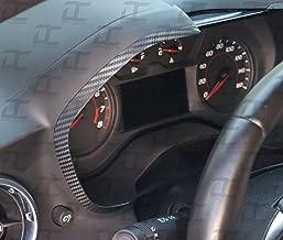 Decal Concepts Carbon Fiber Gauge Bezel Accent Decal kit (Fits Camaro 2016-2019) (Black Carbon Fiber)