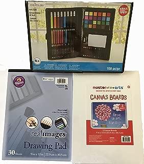 Creatology 100 Piece Kids Art Set, 30 sheet Drawing Pad, and a 9