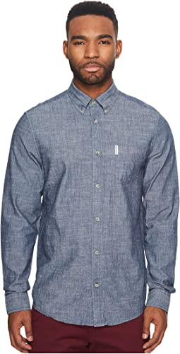 Ben Sherman - Long Sleeve Chambray Woven Shirt