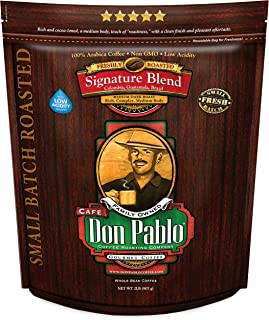 2LB Don Pablo Signature Blend – Medium-Dark Roast – Whole Bean Coffee –..