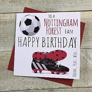 Nottingham Notts Forest FC Voetbalclub Verjaardagskaart - door WITTE KATOEN KAARTEN - 51