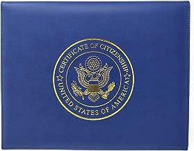 U.S. Citizenship Certificate Holder and Naturalization Certificate Cover Case Folder Frame Unique for New American Citizens 100%