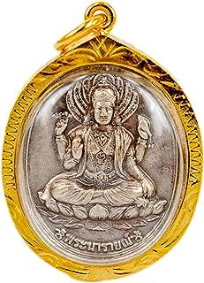 Lakshmi Hindu Goddess Statue Pendant Laxmi Gold Plate LM02