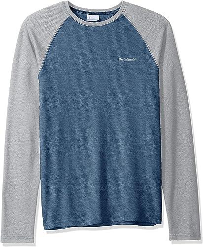 Columbia Hommes's Ketbague Raglan manche longue Shirt, Dark Mountain, gris, M