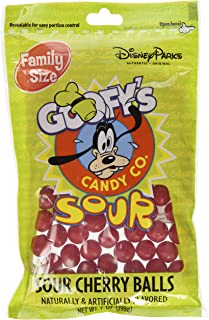 Disney World Parks Goofy Candy Co. Sour Cherry Balls Family Size Bag,Red,7 Oz