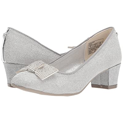 Stuart Weitzman Kids Erica Bow (Little Kid/Big Kid) (Silver Glitter) Girl