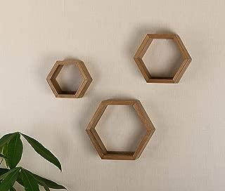 V-LIGHT Wood Wall, Oak Finish, Set of Three Cubes (VW151006O) Decorative Shelving, (Renewed)