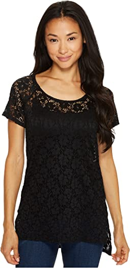 Roper - 0981 Stretch Lace Short Sleeve Top
