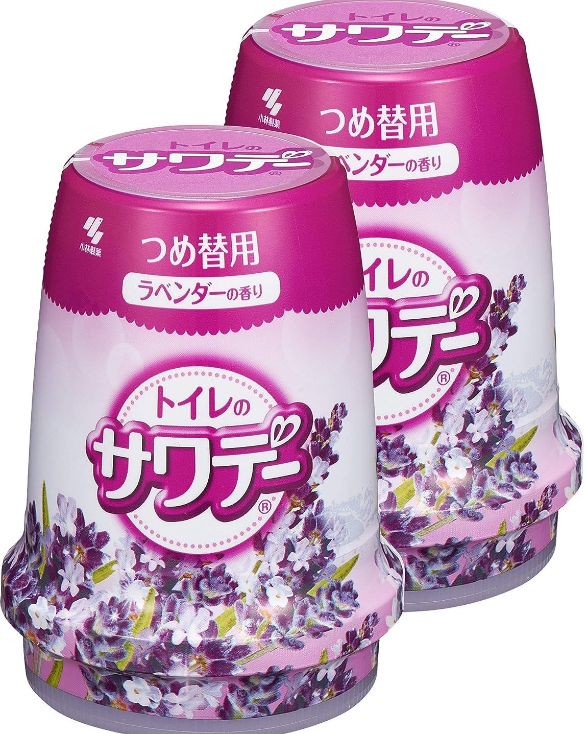 【まとめ買い】サワデー 消臭芳香剤 トイレ用 詰め替え用 こころ落ち着くラベンダーの香り 140g×2個