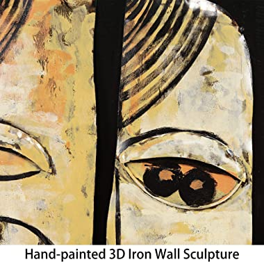 Empire Art Direct Totem Poles Metal, Hand Painted Primo Mixed Media Iron Sculpture, Decor,Ready to Hang,Living Room, Bedroom