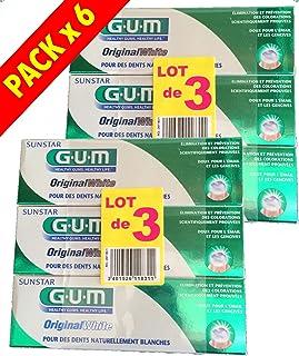 G.U.M Pasta de dientes GUM Original White - Lote de 6 x 75 ml