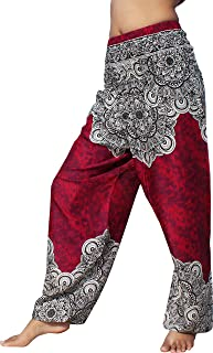 Full Funk Smocked Waist Rayon Printed Aladdin Pants Mixed Floral Explosion Art