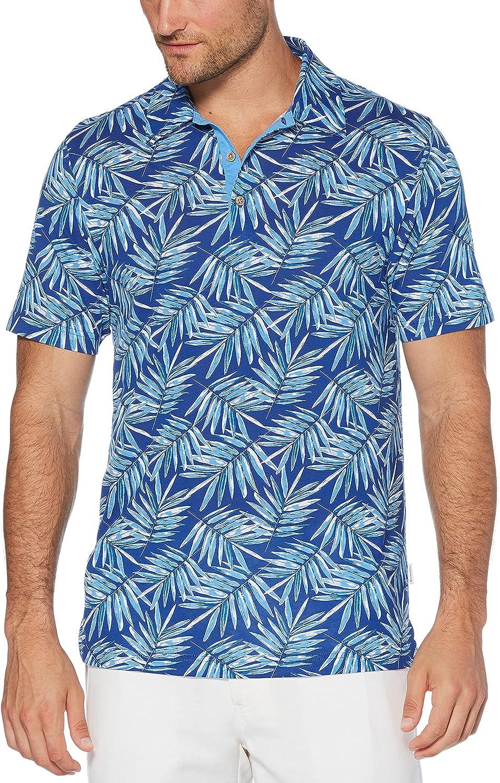 Cubavera Men's Manufacturer regenerated Max 43% OFF product Leaf Print Sleeve Shirt Polo Short