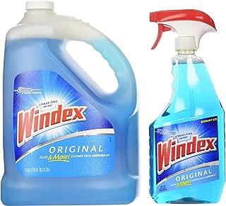 Windex Original Glass & More Cleaner Trigger Spray 946mL/1 Qt + Refill 1 Gallon