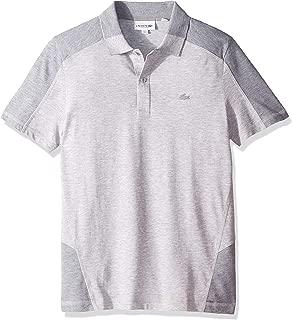 Lacoste Men's S/S Colorblock Pique PIMA Leger Relax FIT Shirt, Silver Chine/Whale Calf Chine, 3XL