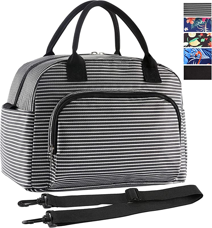 ORASANT Lunch Bag Large Durable Insulated Water Resistant Cooler Thermal Lunch Bag For Women And Men Fashionable Lunch Box With Detachable Shoulder Strap For Work School Beach Picnic Camping