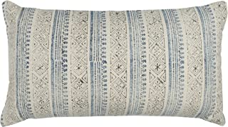 """Rizzy Home Throw Pillow, T12375, Blue/Gray, 14"""" x 26"""""""