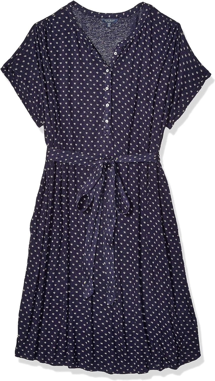 Lucky Brand Womens Plus Size Knit Henley Dress Dress