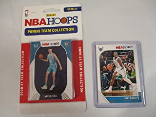 CHARLOTTE HORNETS NBA HOOPS 2020-21 FACTORY SEALED TEAM COLLECTION WITH LaMELO BALL ROOKIE CARD PLUS COLLECTIBLE PLAYER CA...